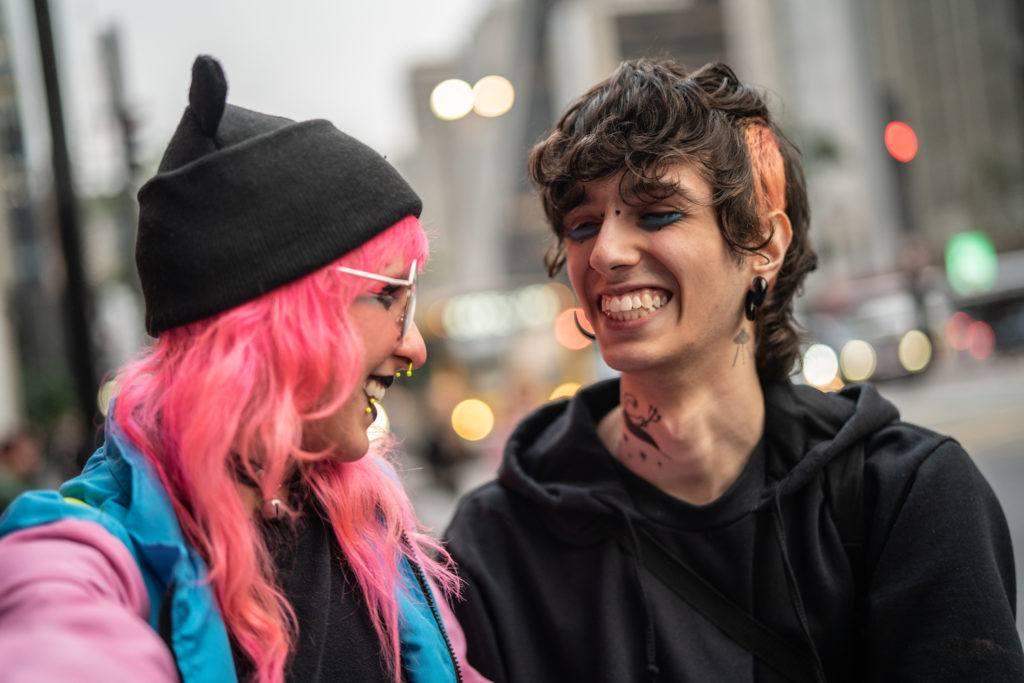grunge hair hot pink