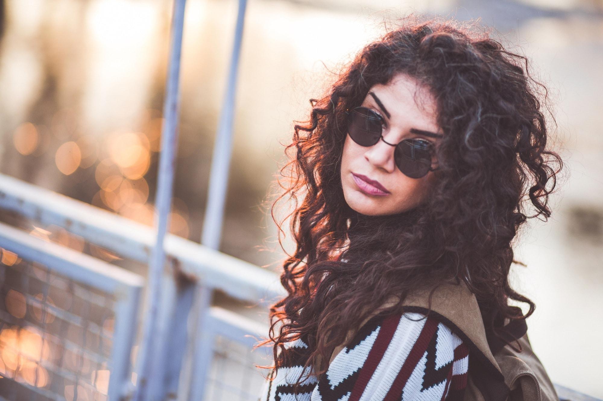 grunge hair springy curls