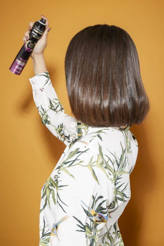 how to flat iron hair mist hairspray