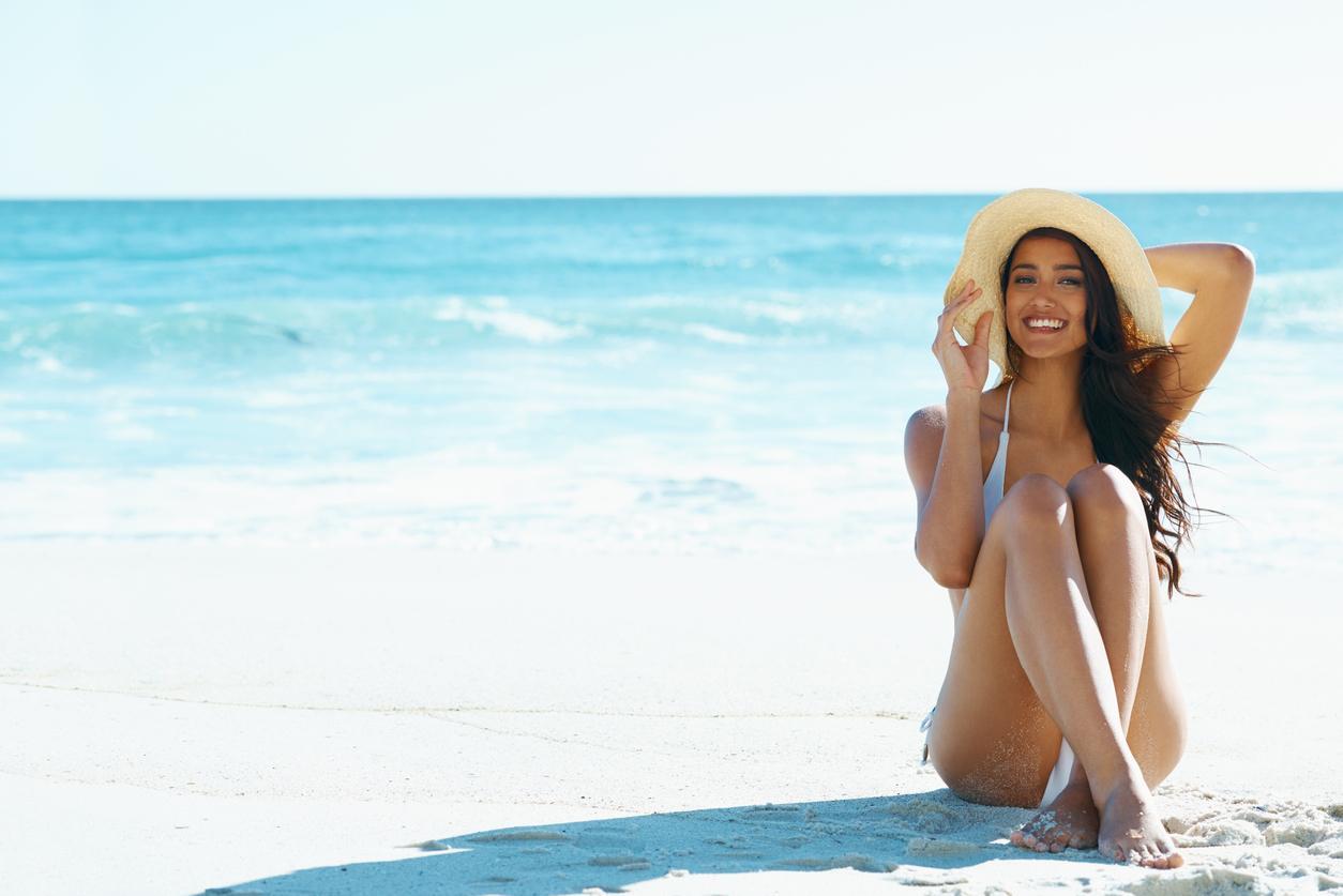 spring break hair care beach hat