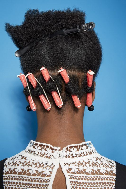 perm rods on natural hair work through
