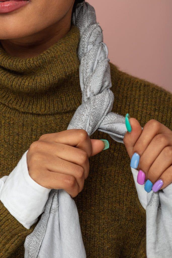 head scarf: twist hair