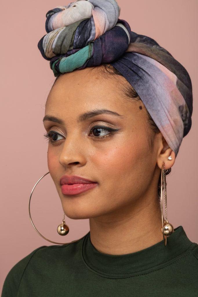 head scarves: bun