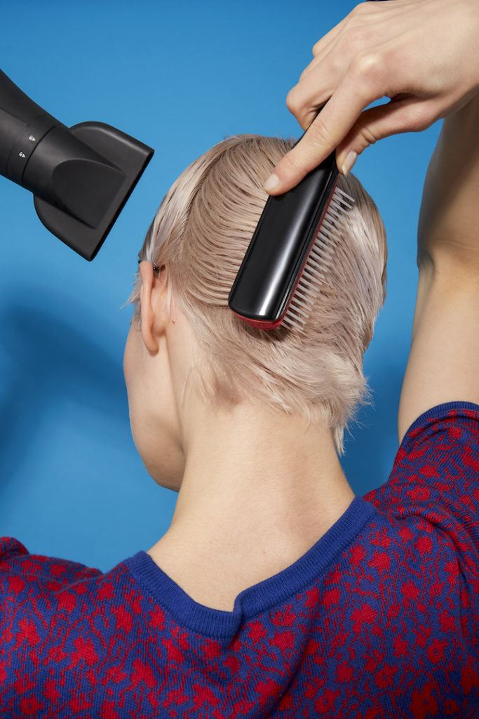 how to blow-dry a pixie cut