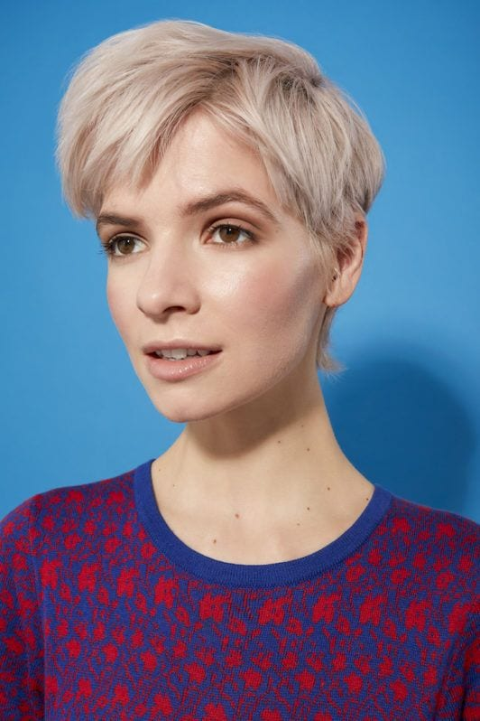 how to blow-dry pixie: final look