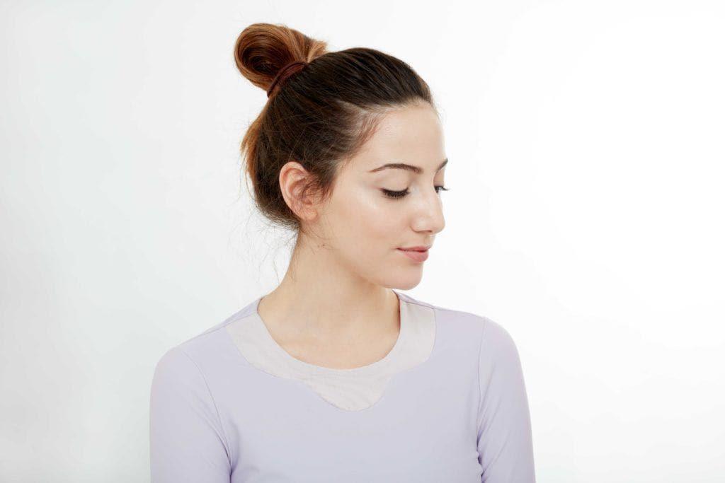 gym hair quick bun front