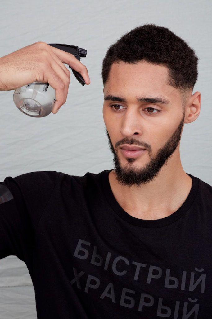 sponge curls: apply water