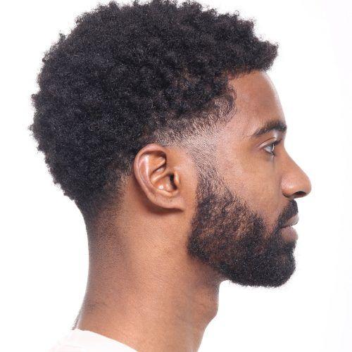Taper Haircut Black Men Waves 63