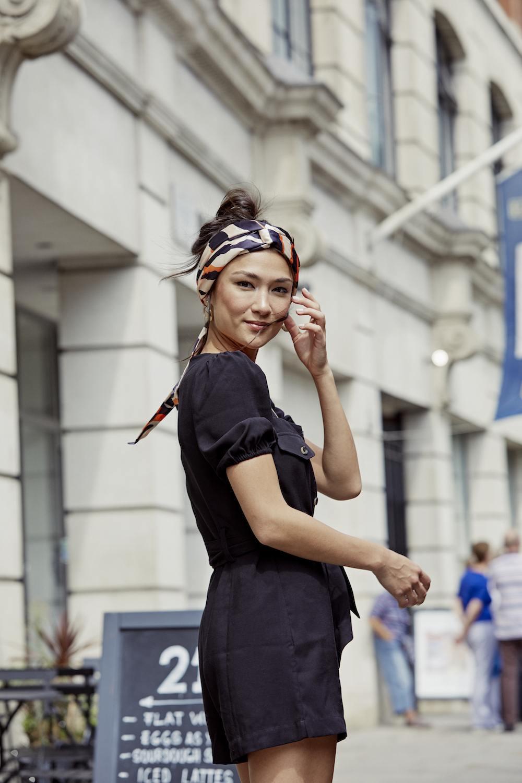 summer day hairstyles headband updo