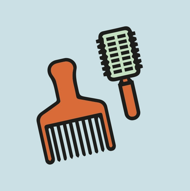 avoid brittle hair brush hair