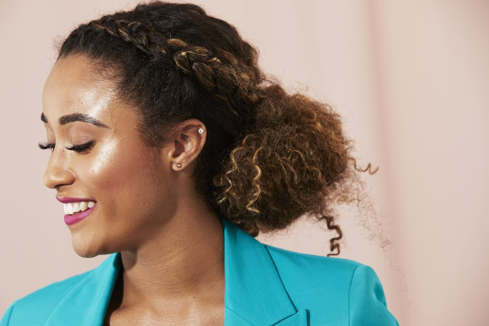 professional work hairstyles braided low bun