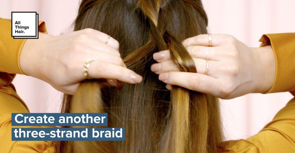 hippie braids three strand braid