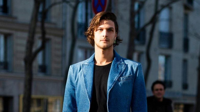 mens long hair products brunette man