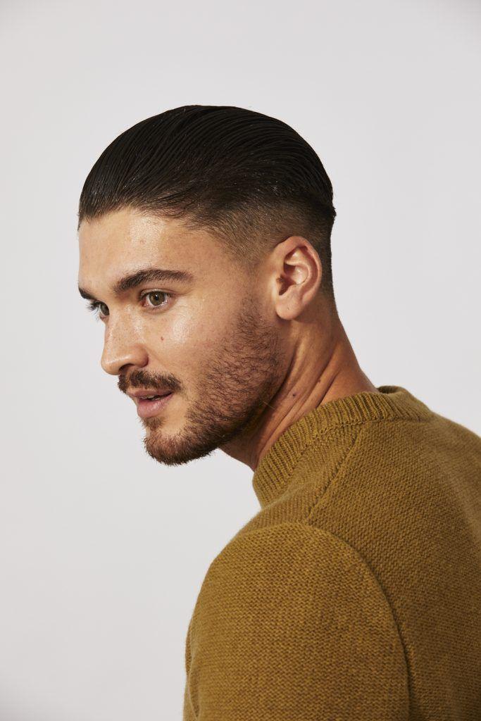 slicked-back hair for men step 7