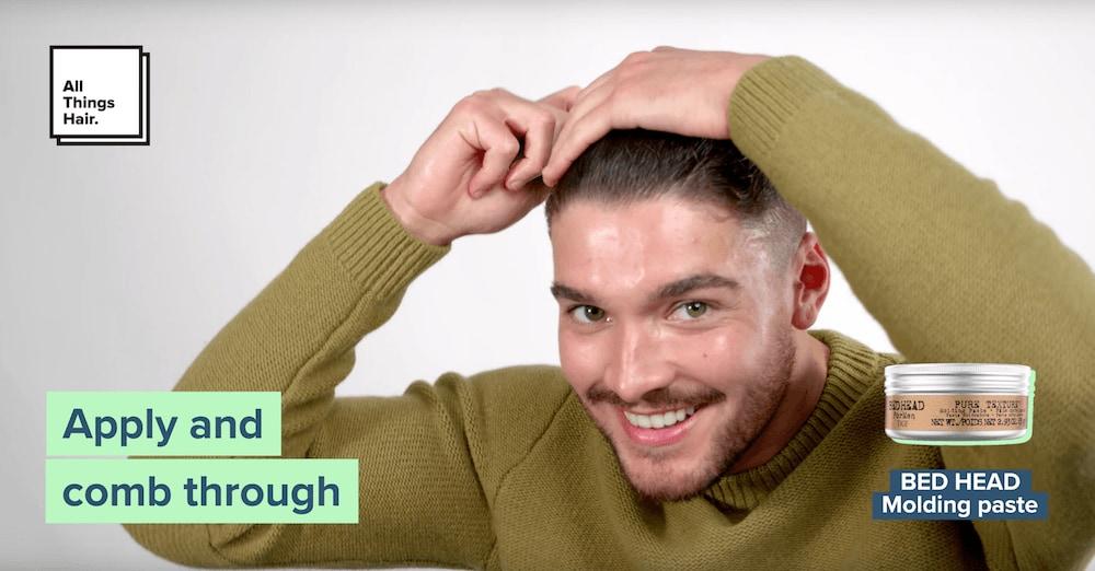 slicked-back hair for men step 6