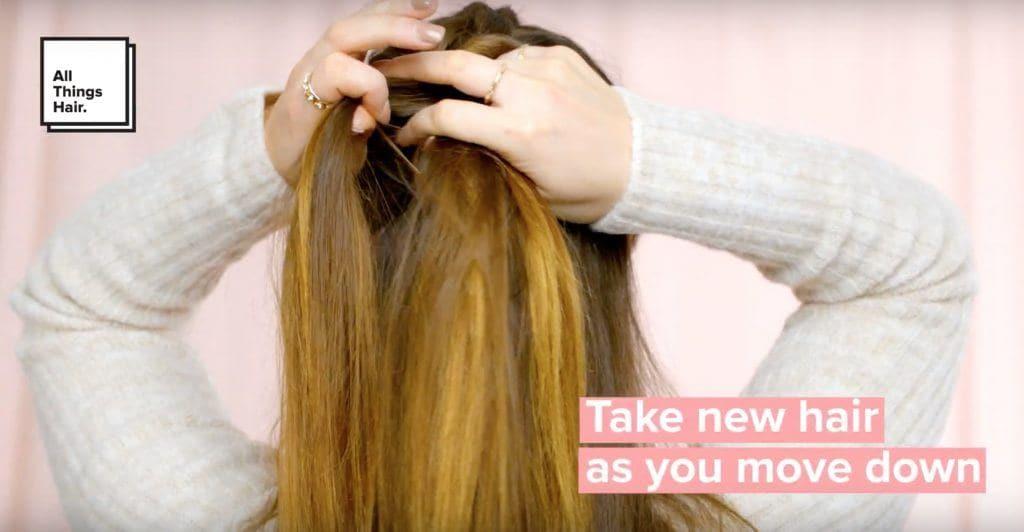 how to create a dutch braid add new hair