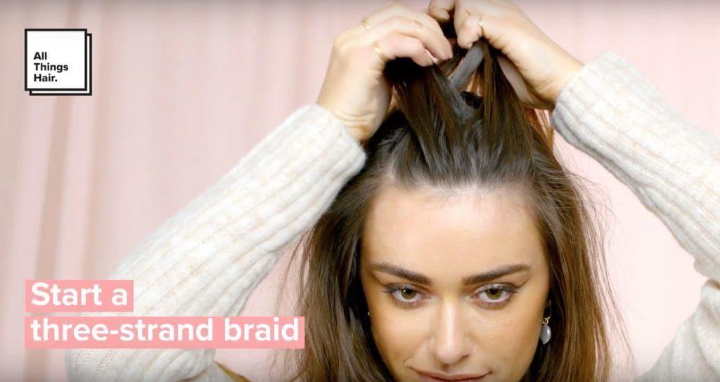 how to create a dutch braid three strand braid
