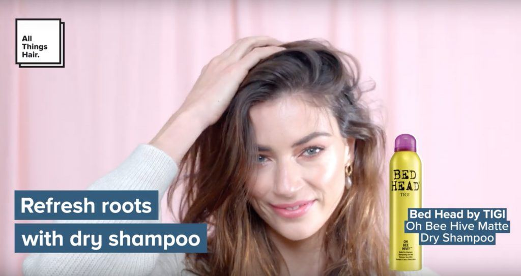 how to crown braid dry shampoo