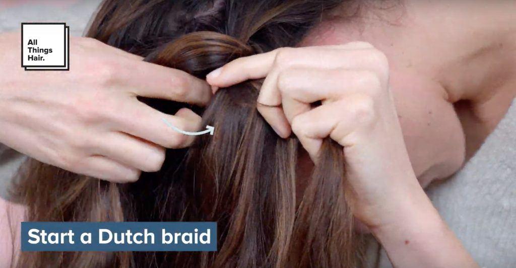 how to crown braid start dutch braid