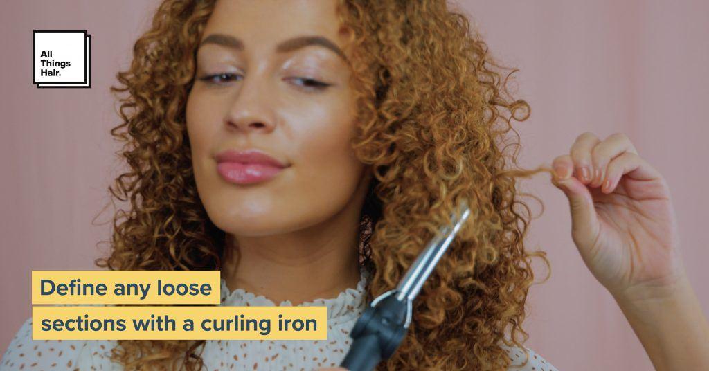 Wash and go curls define curls