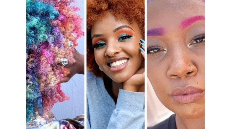 Colorful Afro Hair Ideas