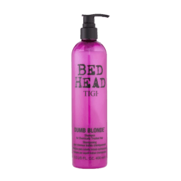 bed head dumb blonde shampoo front view