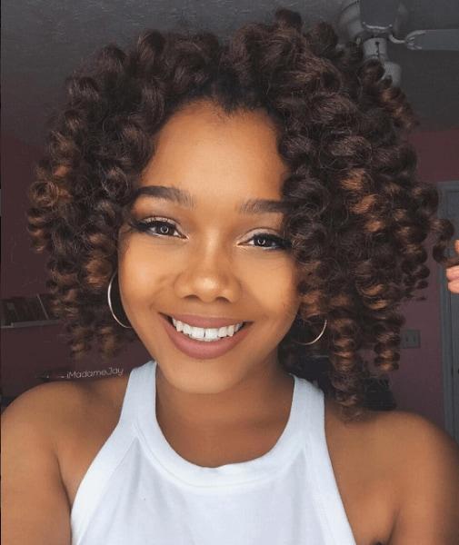 curly bob hairstyle crotchet braids