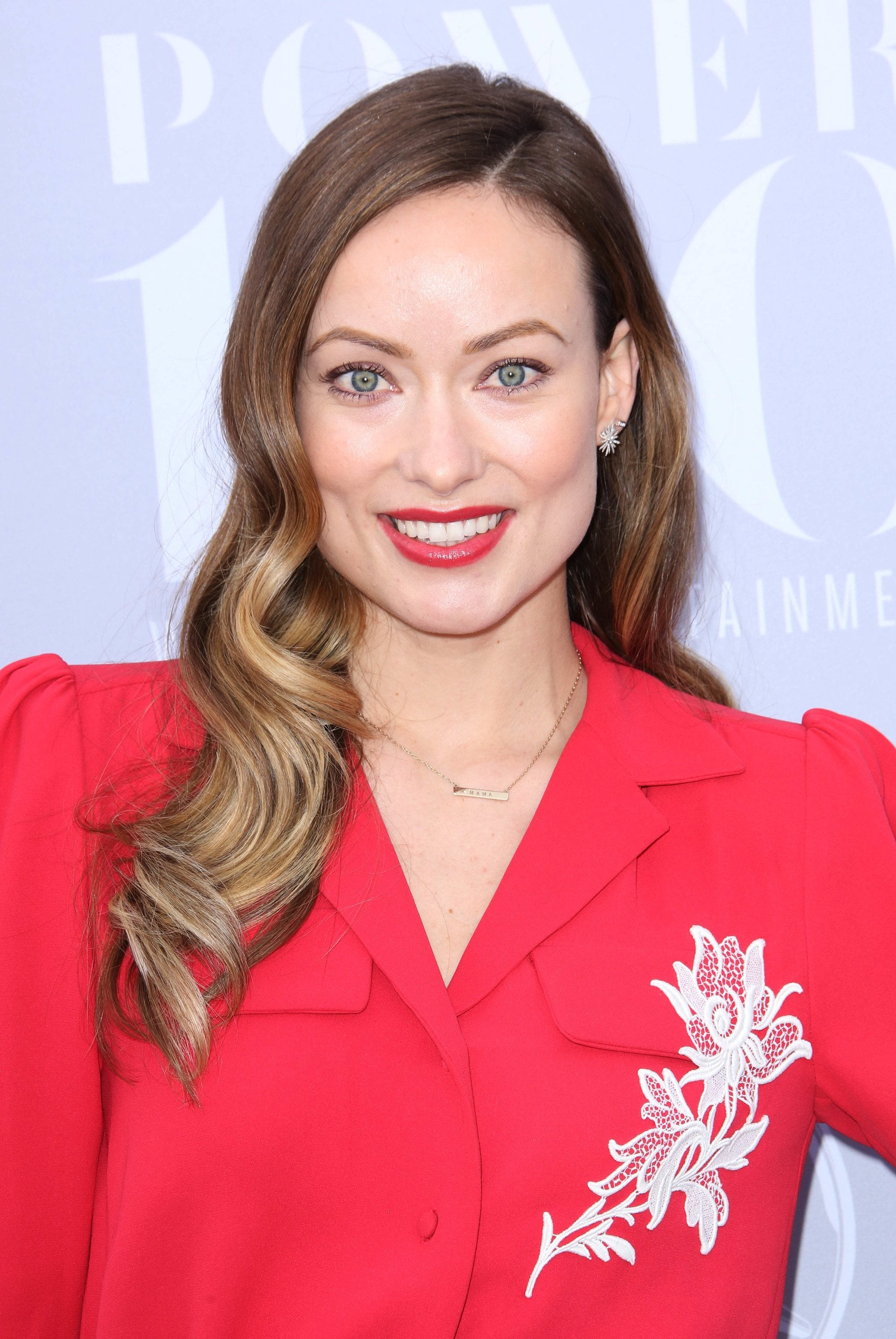 olivia wilde long ombre hair with curls