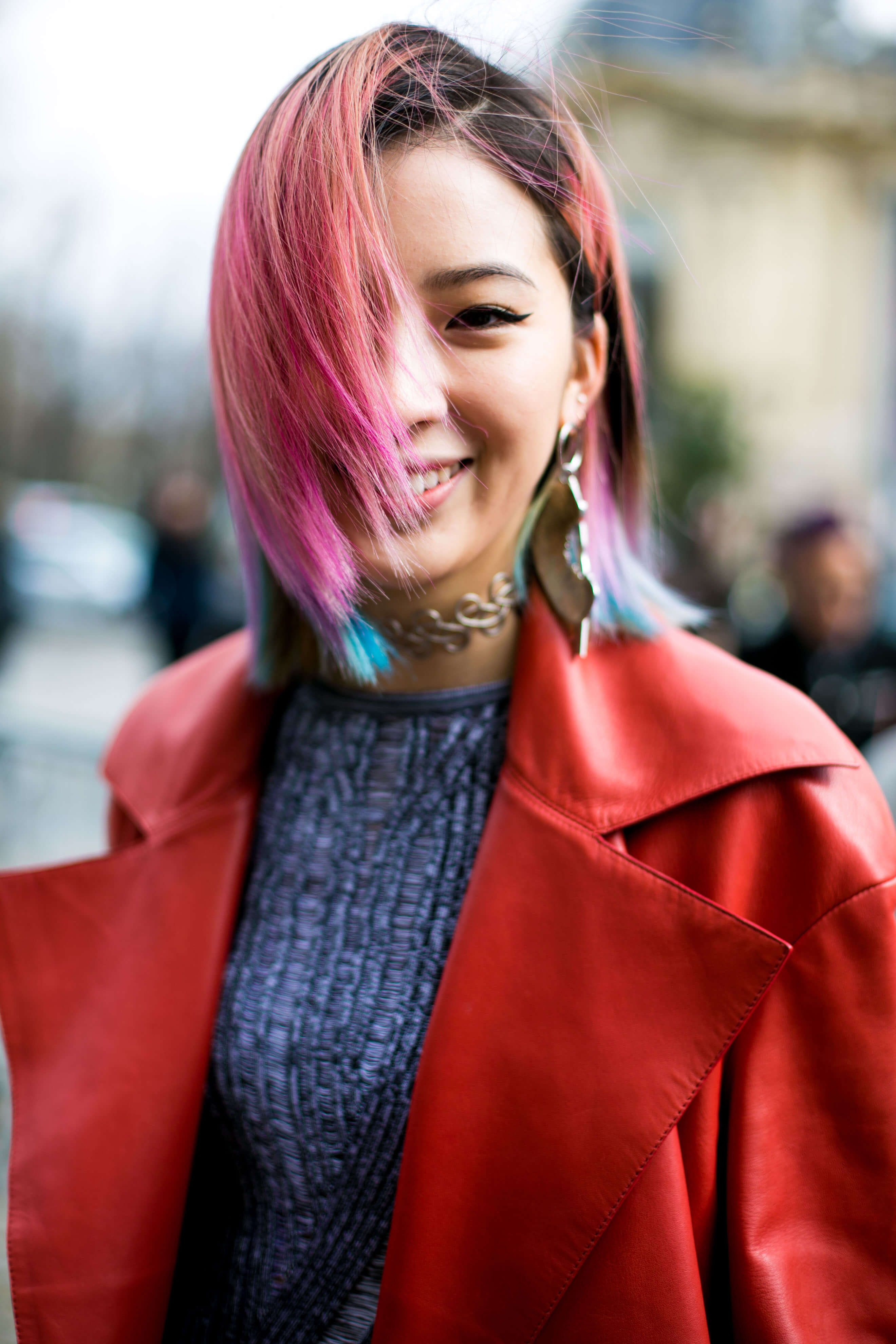 pink rainbow ombre hair