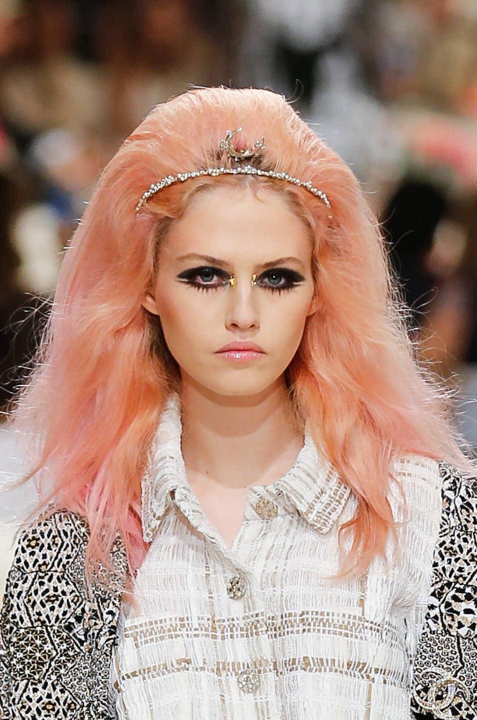 grungy pink hair