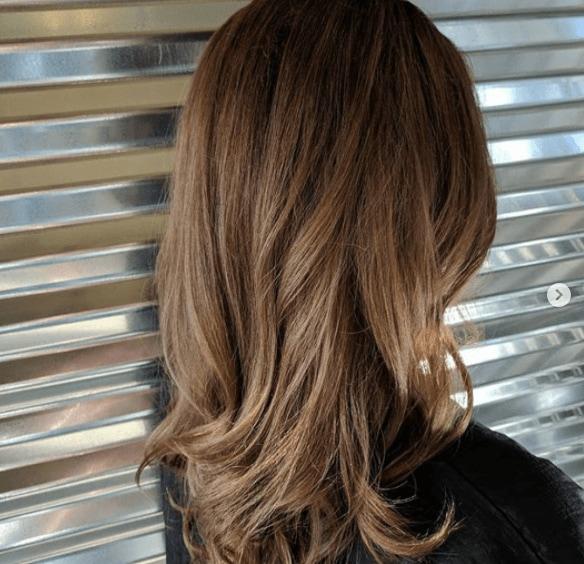 Balayage on brown hair