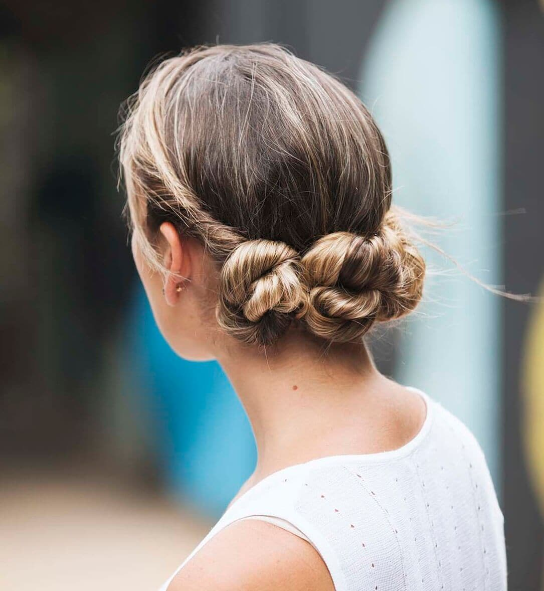 Twisted chignon wedding hairstyle