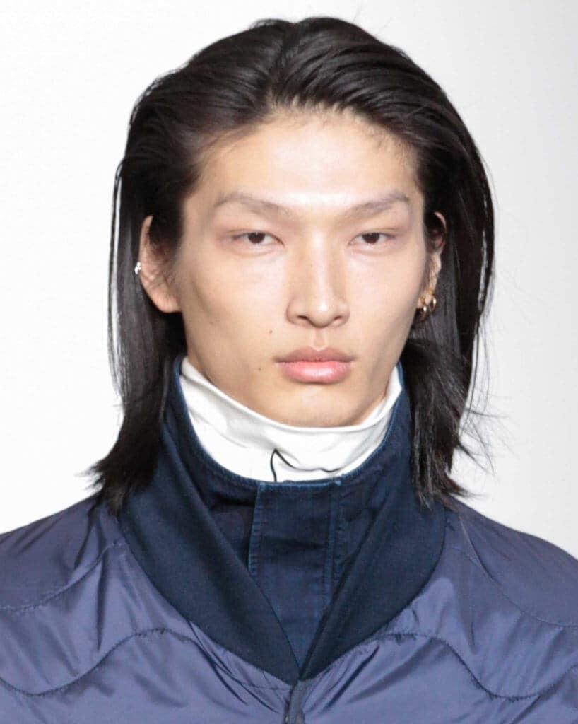 medium length Asian mens hair
