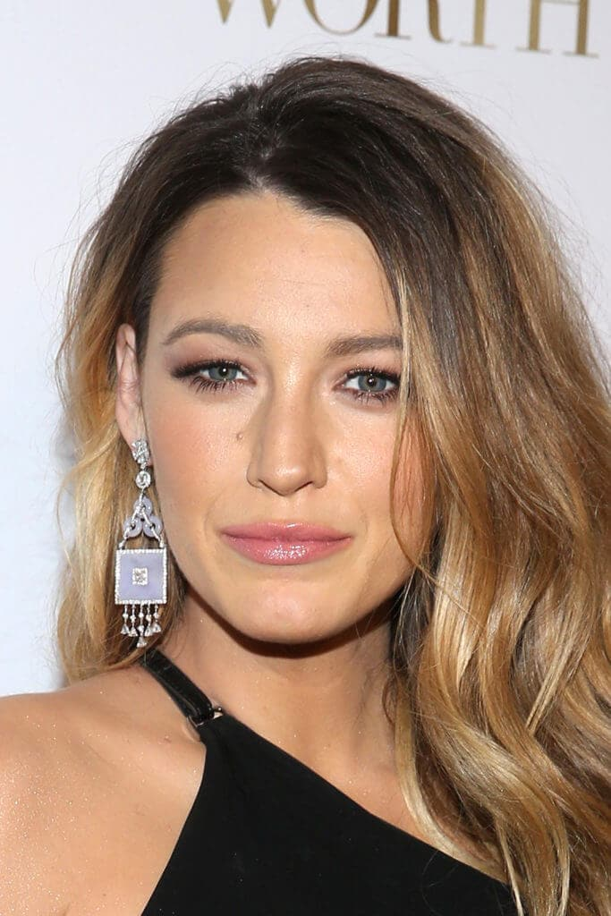 image of blake lively with long dark blonde hair
