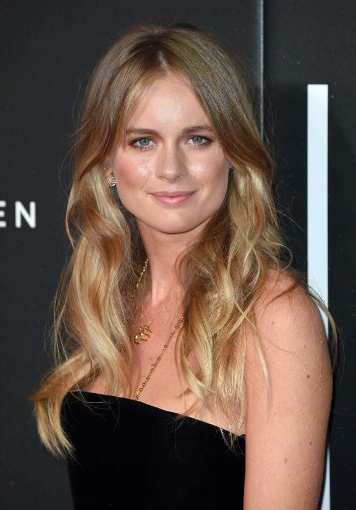 image of cressida bonas with golden dark blonde hair