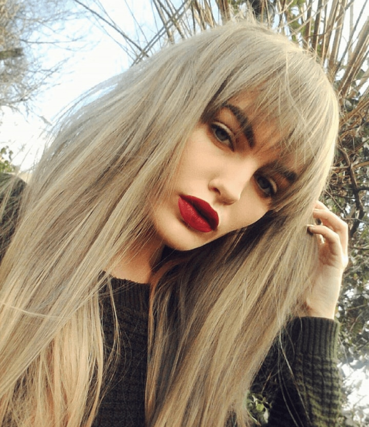Long Hair With Fringe 7 Instagram Looks To Inspire
