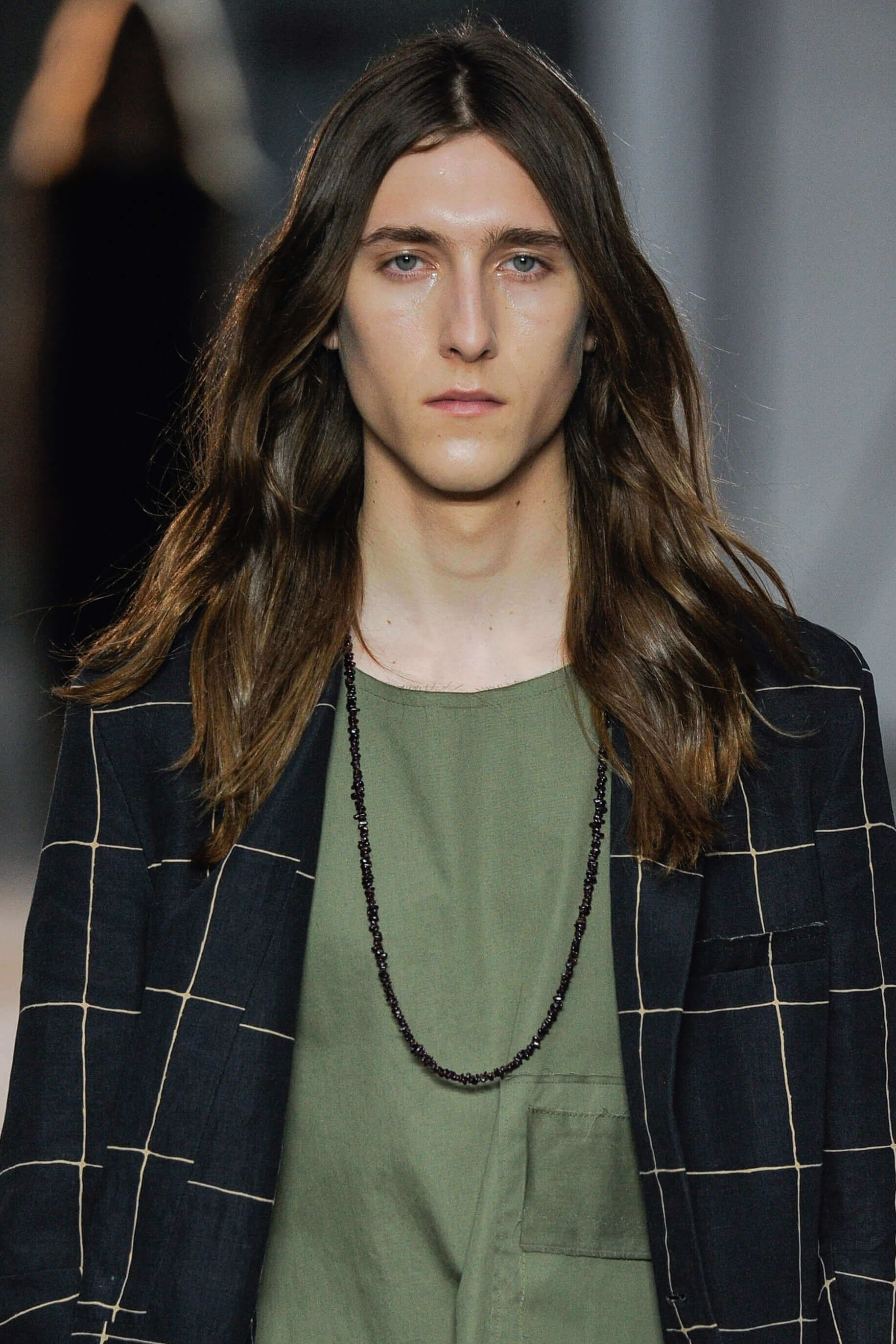 long mens hair with subtle ombre