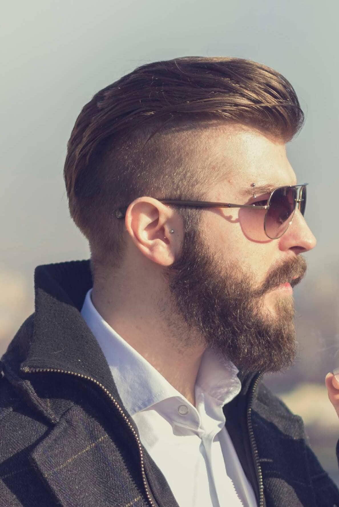 modern hairstyles for men disconnected pompadour