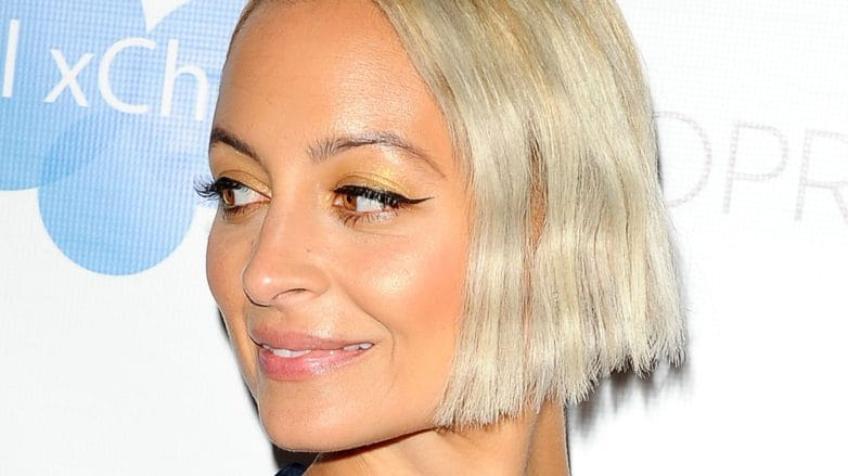 image of NIcole Richie with short bob and bleached blonde hair