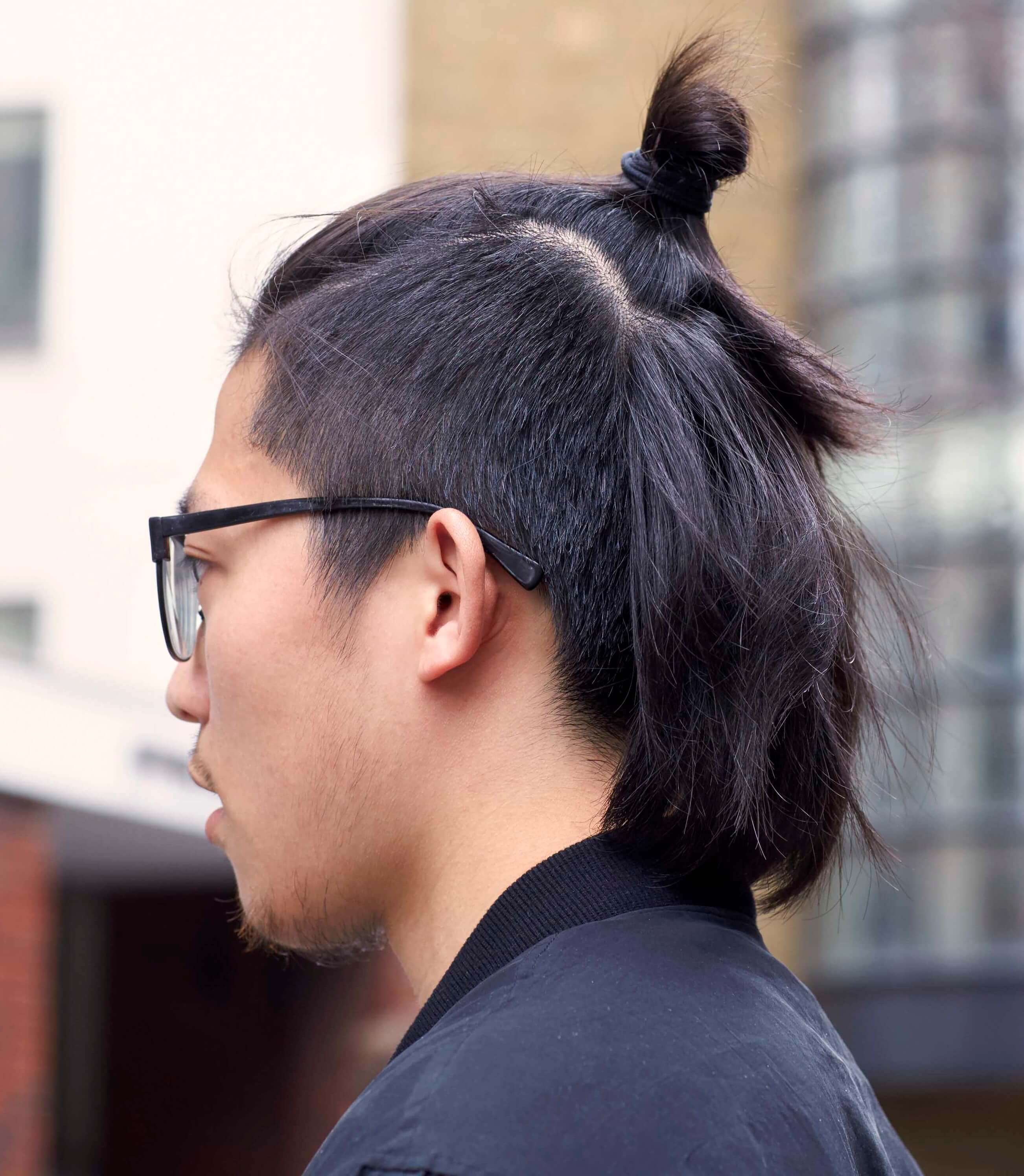 Asian mohawk styles with top knot