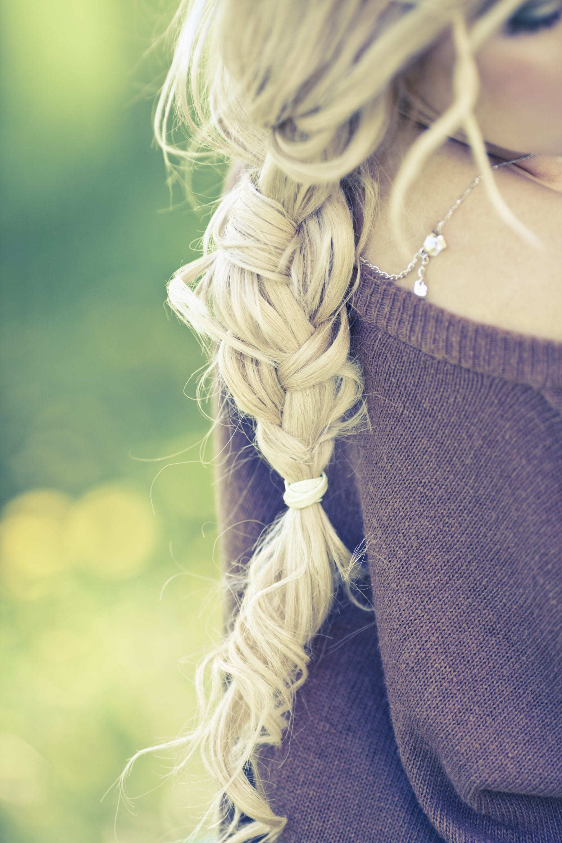 Grow your hair faster? Blonde long healthy hair braided