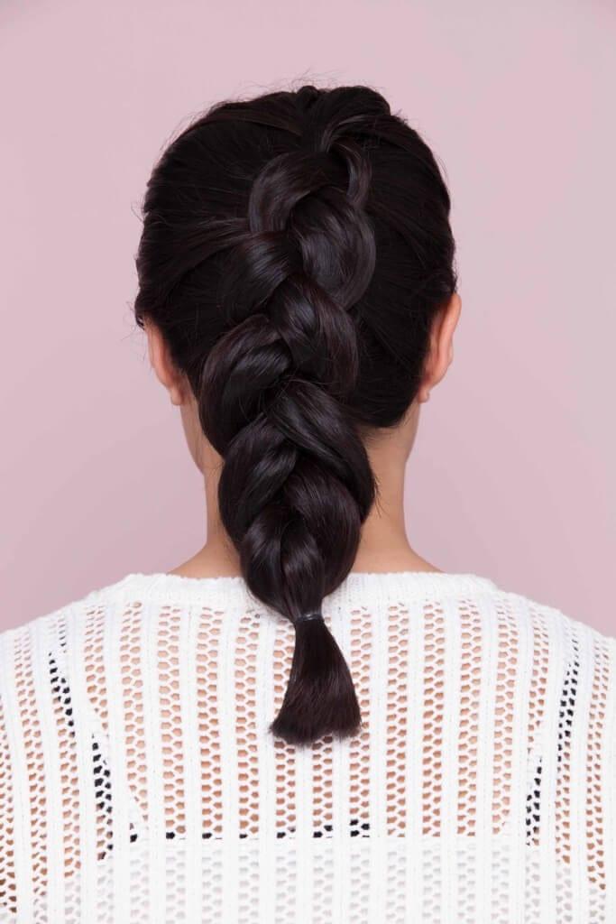 Pretty dark hair with Dutch braid