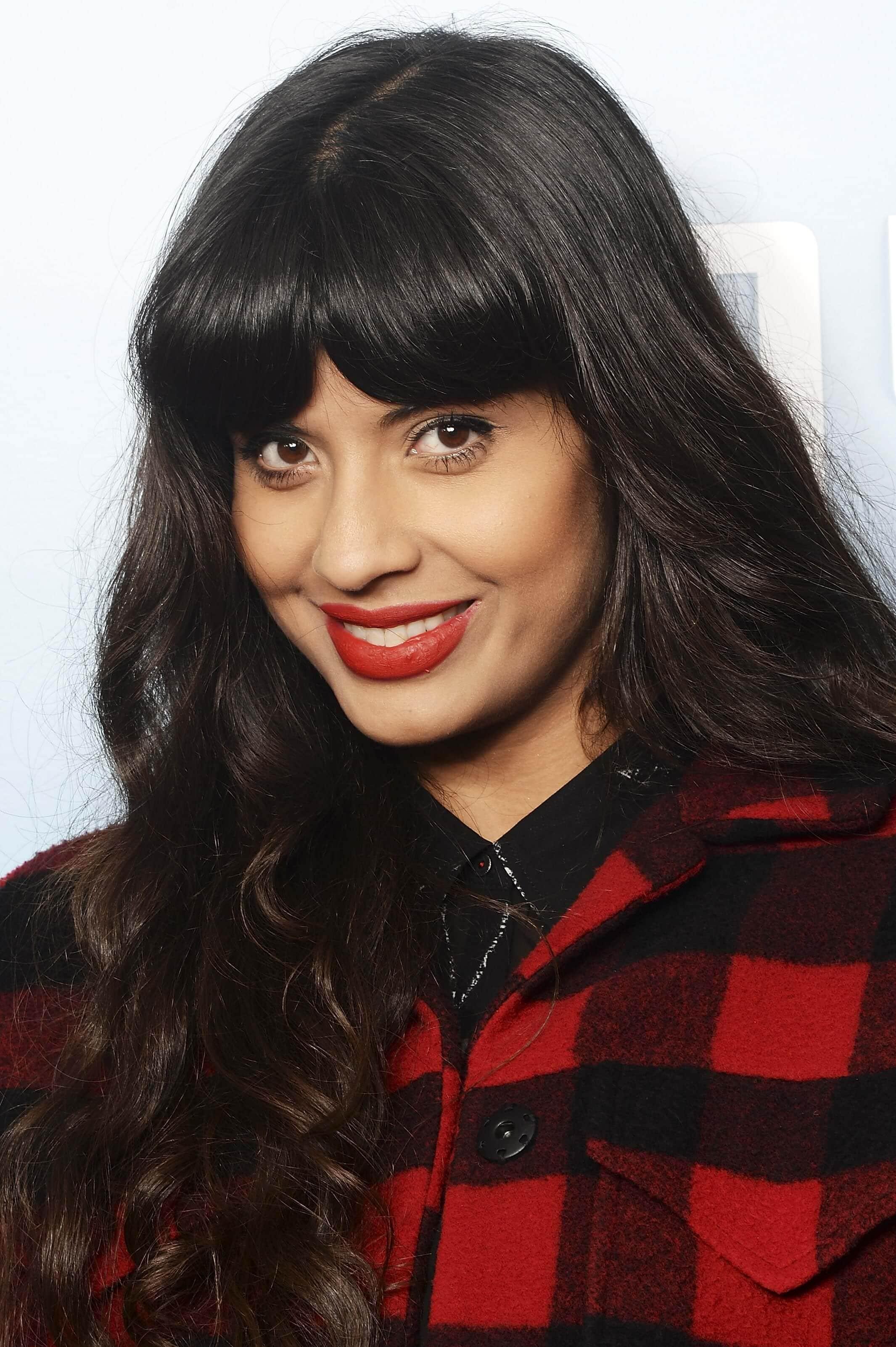 Jameela Jamil brunette hair colour inspiration