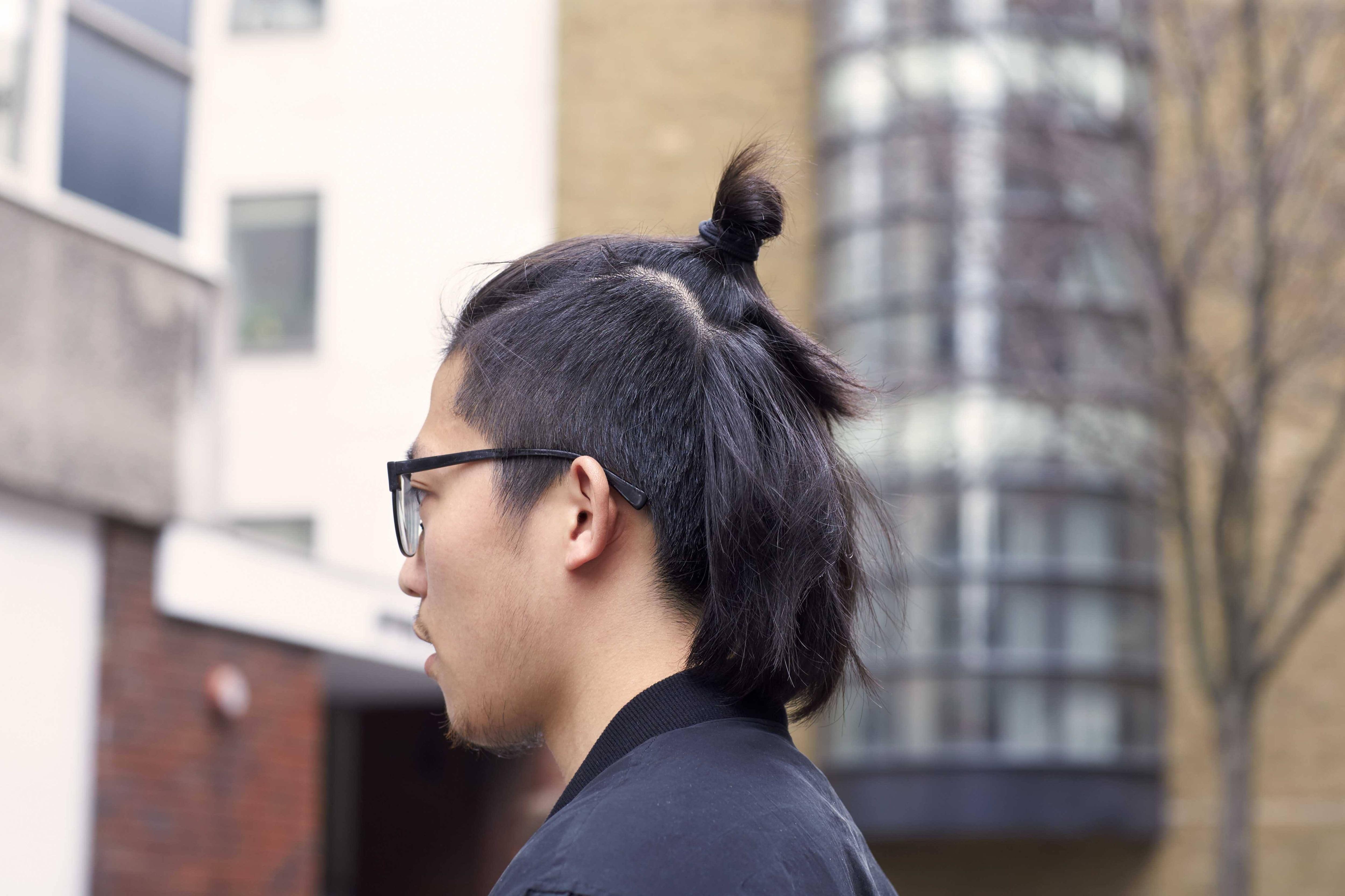 Mohwak hairstyle: Asian topknot mohawk