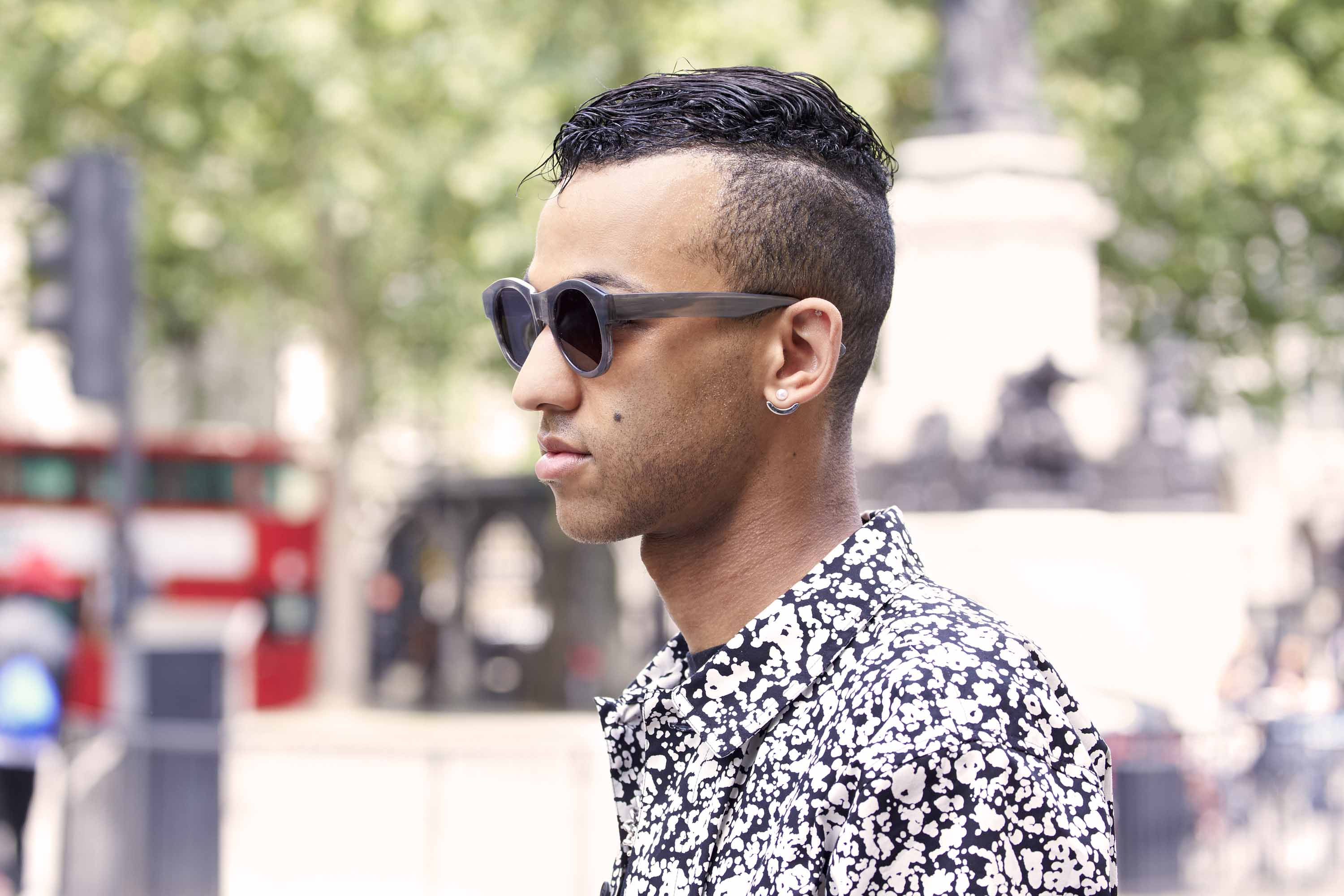 Mohawk hairstyle: guy with Mohawk-inspired cut