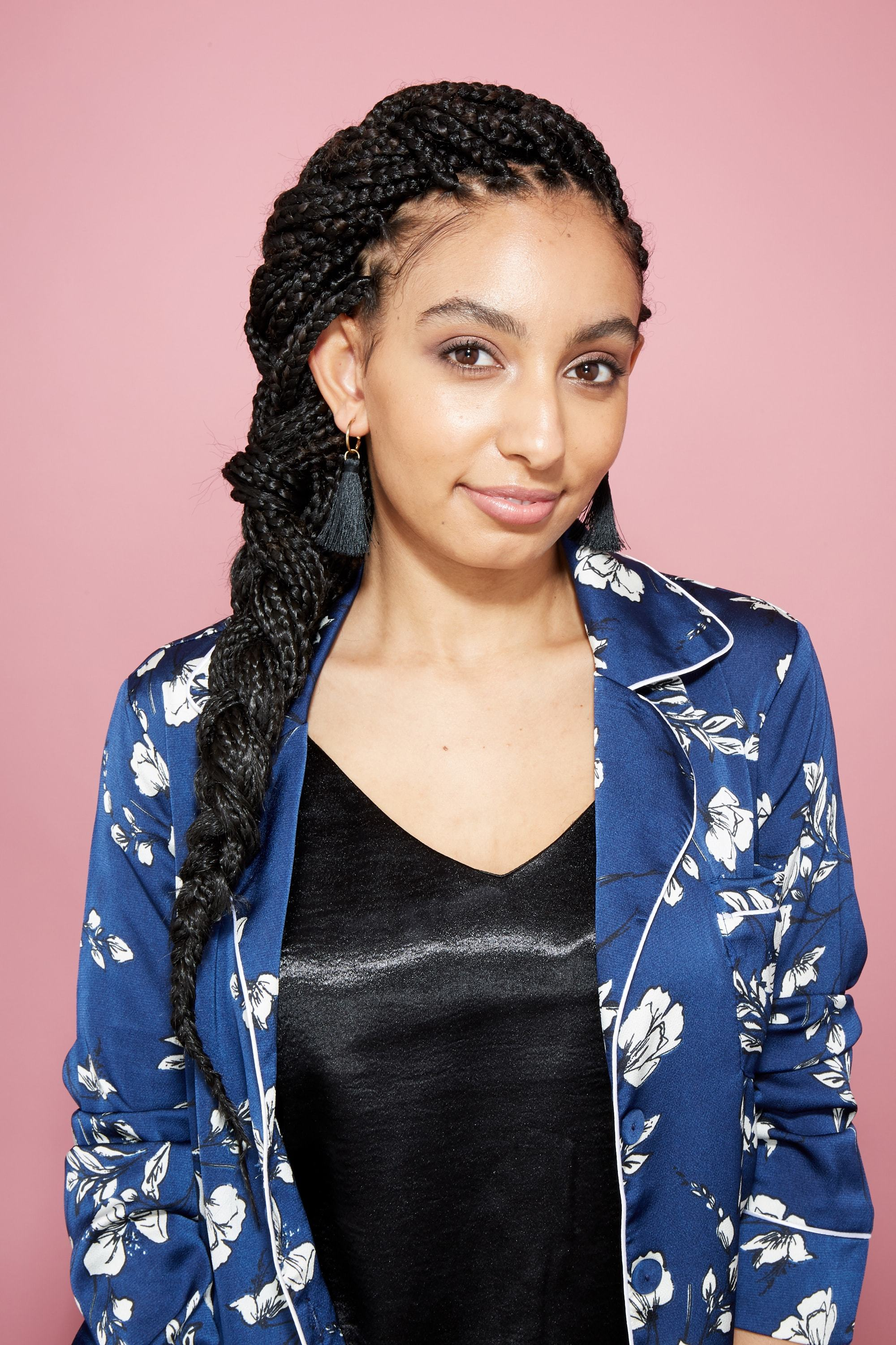 How to style box braids: ATH editor Amra with a side braid with box braids