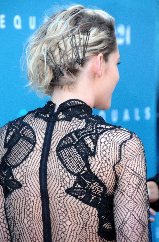 Kristen Stewart updo hair pins