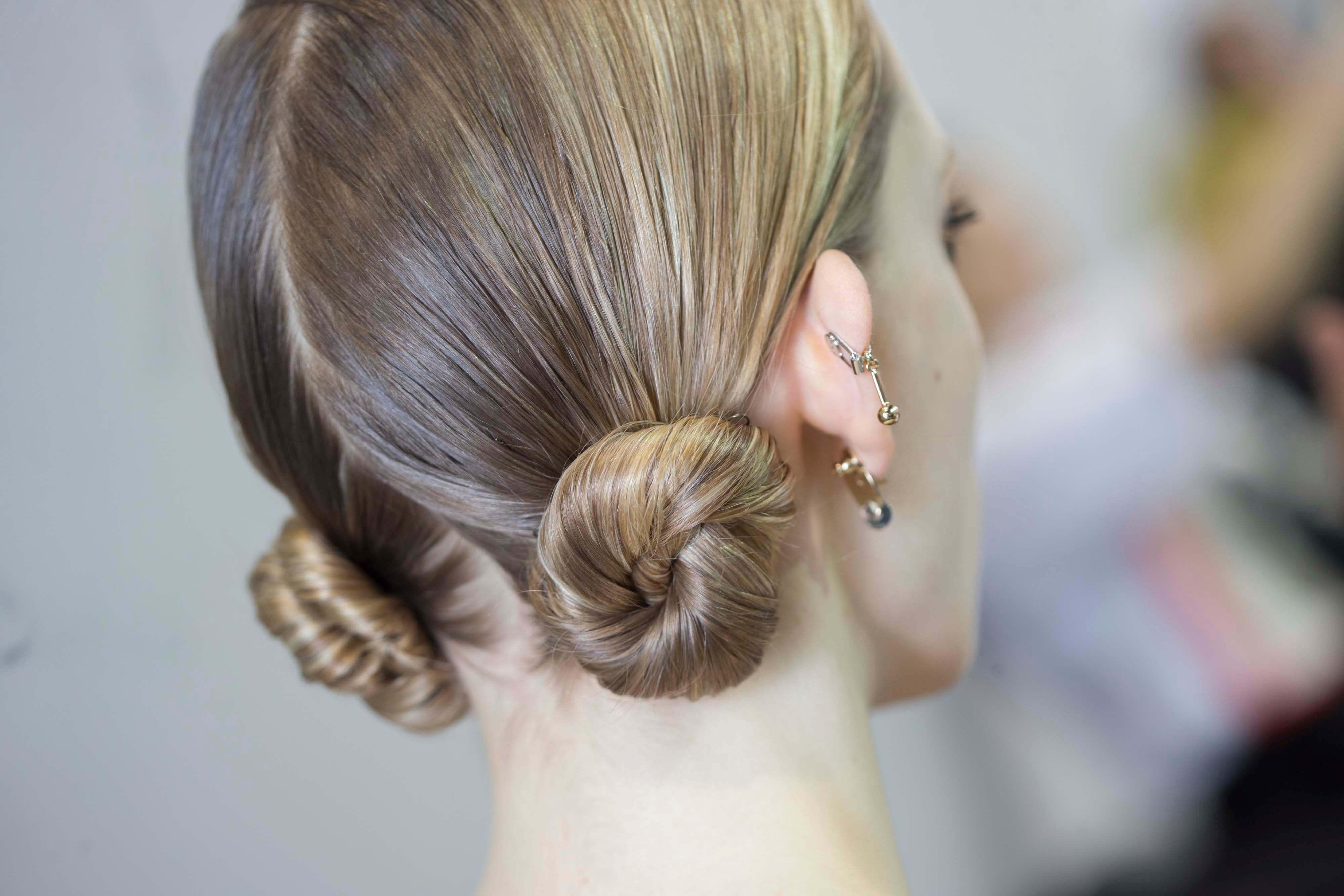low twisted buns how to make your hair wavy overnight