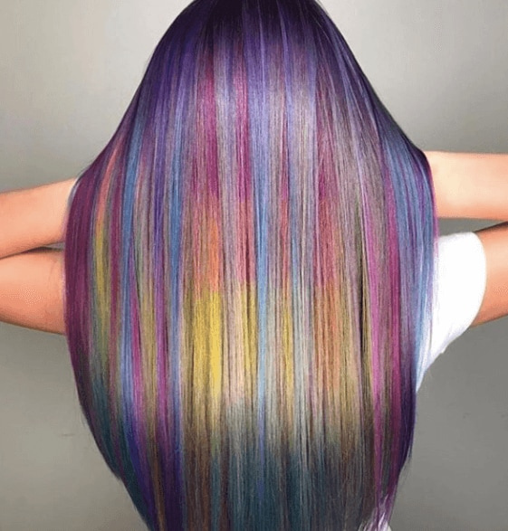 Rainbow mermaid hair colour from Instagram by @masterpiecehair
