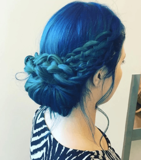 Blue mermaid hair colour from Instagram @tryitchick22